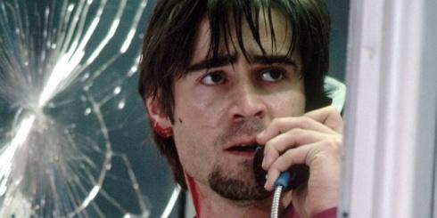 Cena de Por um fio: tudo numa cabine telefônica