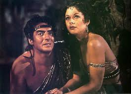 Victor Mature e Hedy Lamarr em Sansão e Dalila (1949)