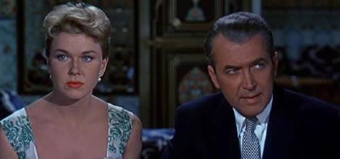 Doris Day e James Stewart em O Homem Que Sabia demais (1956)