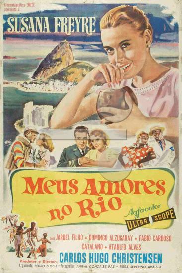 Cartaz brasileiro de Meus amores no Rio