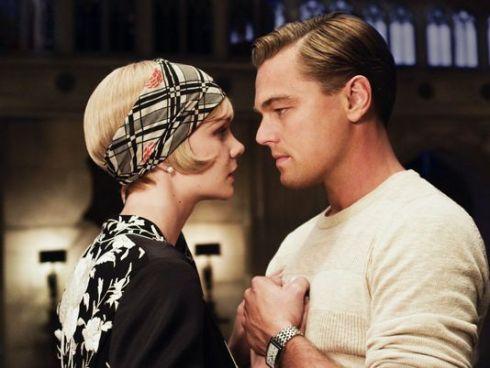 Carey Mulligan e Leonardo DiCaprio no filme de Luhrmann