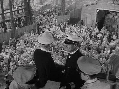 A tripulação e os passageiros do subsolo
