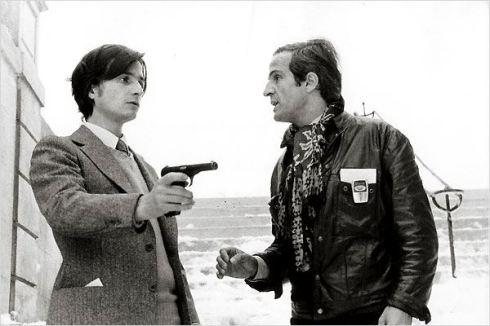 Léaud e Truffaut em cena