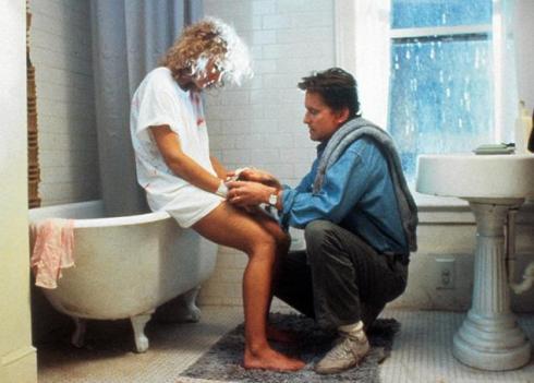 """Glenn Close e Michael Douglas em """"Atração fatal"""""""