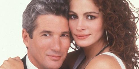 """Richard Gere não dá o fora em Julia Roberts em """"Uma linda mulher"""""""