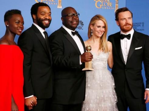 A equipe do filme na cerimônia do Oscar 2014