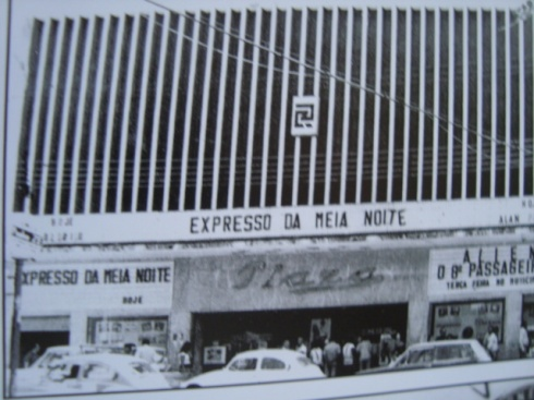 Fachada do Cine Plaza, nos anos oitenta.