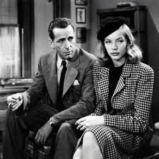 Humphrey Bogart e Lauren Bacall em À beira do abismo.