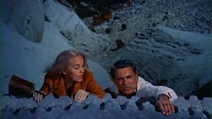 Nas encostas do monte Rushmore: Eva Marie Saint e Cary Grant