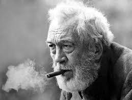 John Huston, em idade madura.