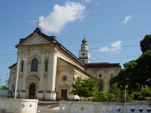 A igreja do Rosário, vizinha ao Grupo e o ao cinema.