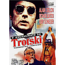 "Cartaz de ""O assassinato de Trotzki"", com Richard Burton e Alain Delon"