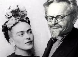 Trotzki e Frida Kahlo, no México.