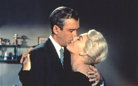 Kim Novak e James Stewart, 1958.