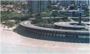 Vista parcial do Hotel Tambaú, que abrigava o cinema.