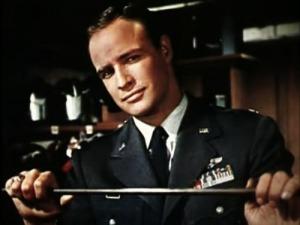 """O ator Marlon Brando, aqui visto em """"Sayonara""""."""