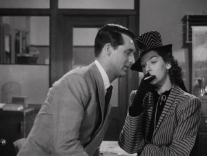 """His girl Friday"": Cary Grant e Rosalind Russell."