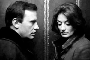 """""""Um homem, uma mulher: Trintignant e Aimée."""