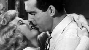 "Barbara Stanwyck e Fred McMurray em ""Pacto de sangue""."