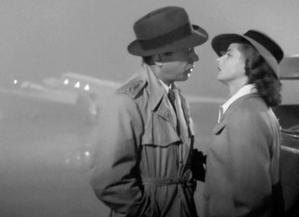 """Com Humphrey Borgart, em """"Casablanca""""."""