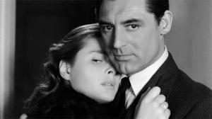 """Com Cary Grant, em """"Interlúdio""""."""