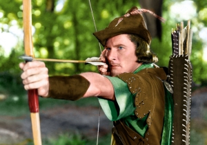 Errol Flynn como Robin Hood, anos 1930...