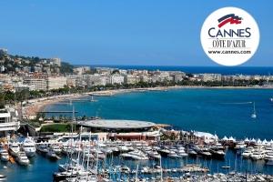 A cidade de Cannes e La Croisette