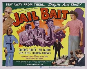 "Poster de ""A face do crime"" (""Jail bait"")"