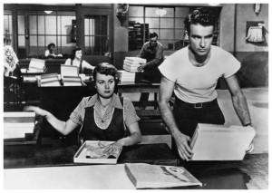 Operários trabalhando: Alice Tripp e George Eastman.