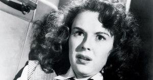 A atriz Mala Powers: expressões faciais.