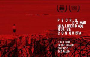 Cartaz da exibição em São Paulo.
